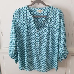 Stitch Fix Skies are Blue Henley Blouse